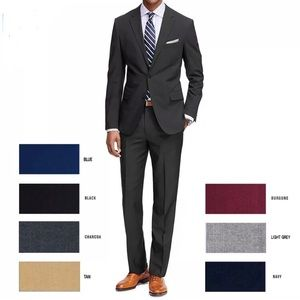 Other - Mens Formal 2 piece Suit solid color Jacket pants